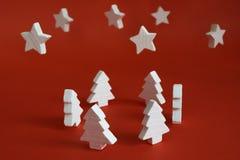 Arbres de Noël blanc 3 Photos stock