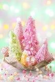 Arbres de Noël colorés par pastel Photographie stock libre de droits