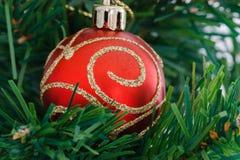 Arbres de Noël d'ornement Images libres de droits