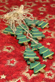 Arbres de Noël en bois Photos libres de droits