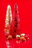 Arbres de Noël et billes en verre Photo libre de droits