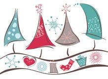 Arbres de Noël Image libre de droits