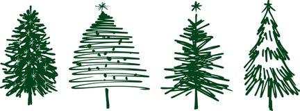 Arbres de Noël Photographie stock