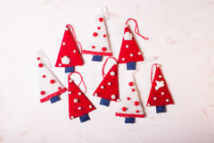 Arbres de textile de Noël Image libre de droits