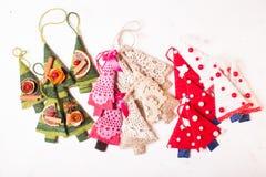 Arbres de textile de Noël Photographie stock