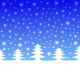 arbres en baisse de neige illustration libre de droits