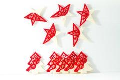 Arbres et étoiles de Noël Photographie stock