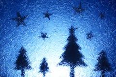 Arbres et étoiles de Noël Image libre de droits
