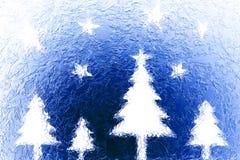 Arbres et étoiles de Noël Photos libres de droits