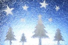 Arbres et étoiles de Noël Images stock