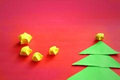 Arbres et étoiles de Noël de papier Image libre de droits