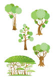 Arbres et arbustes Images stock