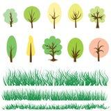 Arbres et herbe verte Photo libre de droits