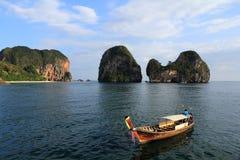 Arbres et plage, îles Kraby, Phi-phi, Thaïlande, Asie Photo stock