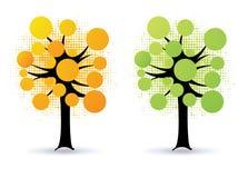 Arbres floraux - vecteur illustration stock