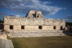 Arbres forestiers du Mexique Uxmal de pyramides Image libre de droits