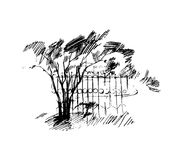 Arbres, illustration Images libres de droits