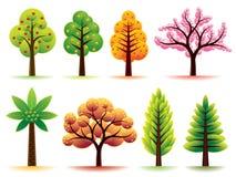 arbres modernes illustration de vecteur