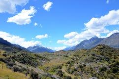 Arbres réduits dans la région sauvage de montagne immaculée Image stock