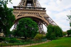 Arbres sous la tour d'Eifel Image libre de droits
