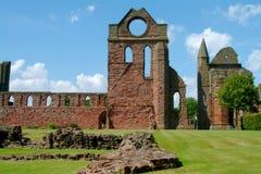 arbroath Шотландия аббатства Стоковая Фотография