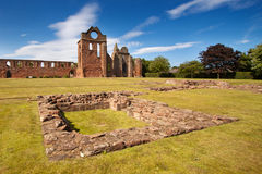 Arbroath Abbey, Angus, Scotland. Arbroath Abbey in Angus, Scotland is a red sandstone ruin founded in 1178 by King William the Lion and most famous as the place Royalty Free Stock Photos