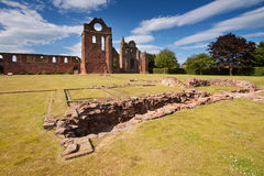 Arbroath Abbey, Angus, Scotland. Arbroath Abbey in Angus, Scotland is a red sandstone ruin founded in 1178 by King William the Lion and most famous as the place Royalty Free Stock Images