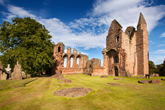 Arbroath Abbey, Angus, Scotland. Arbroath Abbey in Angus, Scotland is a red sandstone ruin founded in 1178 by King William the Lion and most famous as the place Stock Images