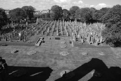 Arbroath Abbey Graveyard Royalty Free Stock Photo