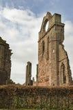 Arbroath Abbey Ruins i Skottland Royaltyfri Foto