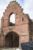 Arbroath Abbey Ruins i Skottland Royaltyfria Foton