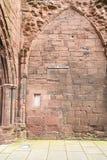 Arbroath Abbey Ruins i Skottland Arkivbilder