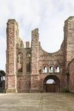 Arbroath Abbey Ruins i Skottland Arkivfoton
