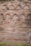 Arbroath Abbey Ruins i Skottland Arkivfoto