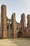 Arbroath Abbey Ruins i Skottland Royaltyfri Fotografi