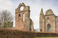 Arbroath Abbey Ruins in Schotland stock afbeeldingen