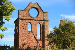 Arbroath Abbey, Scotland. Founded in 1178 by King William the Lion for a group of Tironensian Benedectin monks from Kelso  the Abbey, which was the richest of Stock Image
