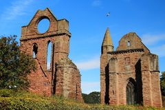 Arbroath Abbey, Scotland. Founded in 1178 by King William the Lion for a group of Tironensian Benedectin monks from Kelso  the Abbey, which was the richest of Royalty Free Stock Images