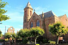 Arbroath Abbey, Scotland. Founded in 1178 by King William the Lion for a group of Tironensian Benedectin monks from Kelso  the Abbey, which was the richest of Royalty Free Stock Image