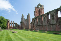 Arbroath Abbey, Skottland Royaltyfri Foto