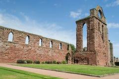 Arbroath Abbey, Skottland Arkivfoto