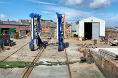 Arbroath Boat Yard Stock Photo