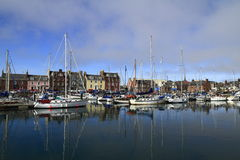 Arbroath Harbor, Scotland Stock Photo