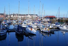 Arbroath Harbour Marina, Angus, Scotland Royalty Free Stock Photography