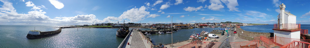 Arbroath Harbour Panorama Royalty Free Stock Photography