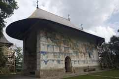 Arbure Church. The Arbure Churh, built in 1502 in the northern Romania, Europe, a UNESCO monument Royalty Free Stock Images