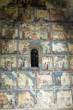 Arbure Church. The external painting from the Arbure Churh, built in 1502 in the northern Romania, Europe Royalty Free Stock Images
