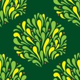 Arbusto sem emenda da textura estilizado ilustração do vetor
