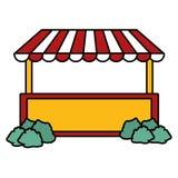 Arbustos do carnaval da cabine ilustração stock