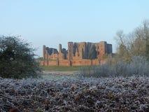 Arbustos geados castelo de Kenilworth Imagem de Stock Royalty Free